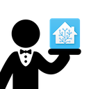 Echo devices and Home Assistant logo